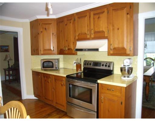 The kitchen at 240 Water Street, Hanover before renovations. Courtesy of MLS PIN,.