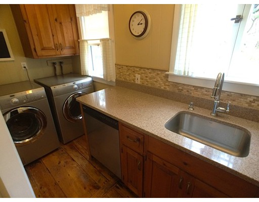 The kitchen at 240 Water Street, Hanover after renovations. Courtesy of MLS PIN.